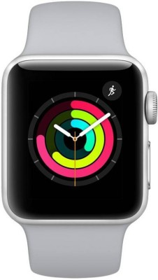 Apple Watch Series 3 42 mm Silver Aluminum White Sport Band (GPS)(White Strap, Regular)