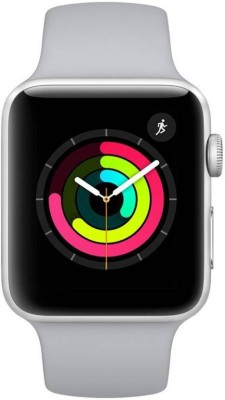 Apple Watch Series 3 GPS - 38 mm Silver Aluminium Case with Fog Sport Band(White Strap, Regular)