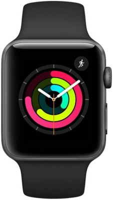 Apple Watch Series 3 GPS - 42 mm Space Grey Aluminium Case with Black Sport Band(Black Strap, Regular)