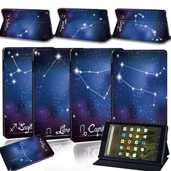 Tablet Case for Amazon Fire 7 (5/7/9th)/HD 8 (6/7/8th)/HD 10 (5/7/9th) Star Pattern Hard Shell Case Cover Tablet Accessories
