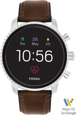 Fossil 4th Gen Explorist HR Smartwatch(Brown Strap, Regular)