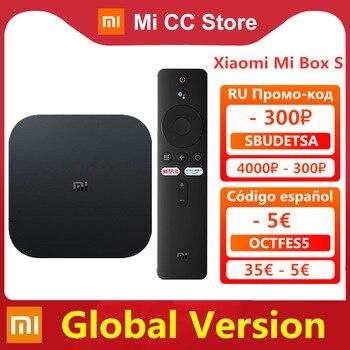 Global Version Xiaomi Mi TV Box S 4K Ultra HD Android TV 9.0 HDR 2GB 8GB WiFi Google Cast Netflix Smart TV Mi Box 4 Media Player