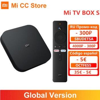 Global Version Xiaomi Mi TV Box S Android TV 9.0 4K Ultra HD 2GB 8GB WiFi IPTV Set Google Assistant Smart MiBox 4 Media Player